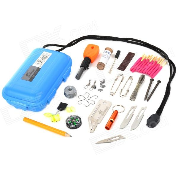 FireMaple FME-2011 Outdoor Emergency First Aid Kit Bag Survival Tool Set - Blue