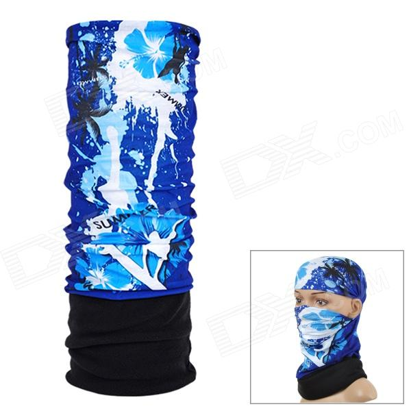 NUCKILY EEA33 Multifunction Outdoor Sports Seamless Head Scarf - Black + Blue