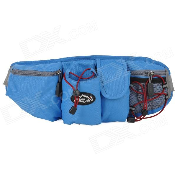 LOCALLION WH023 Outdoor Sports Cycling Nylon Waist Bag - Blue + Grey