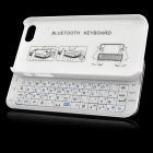 Bluetooth V3.0 50-key Keyboard for Iphone 5S / 5 - White