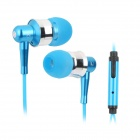OVLENG iP-670 Stylish Universal 3.5mm Jack Wired Stereo Headset w/ Microphone - Blue + Silver