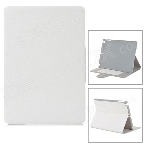 Protective Flip Open PU + PC Case w/ Stand / Card Slots for Ipad AIR - White protective flip open pu case w card slot stand for ipad air 2 sky blue