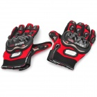 PRO-BIKER HJ-37 Outdoor Sports Full-Finger Motorcycle Racing Gloves - Red + Black (Pair / Size L)