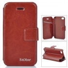 Stylish Protective PU Leather Case for Iphone 4 / 4S - Brown
