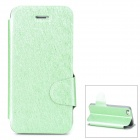 Protective Ice Crystal Grain PU Leather Case for Iphone 5 / 5s - Green