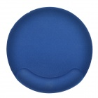 Quality Round Shaped Cotton Mouse Pad - Ink Blue