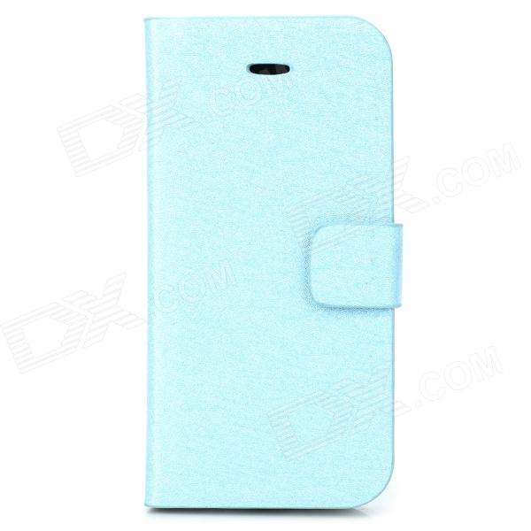 Silk Style Protective PU Leather Case for Iphone 5C - Blue часы timex timex ti001dmmod53