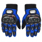 PRO-BIKER HJ-36 Outdoor Sports Full-Finger Motorcycle Racing Gloves - Blue + Black (Pair / Size L)