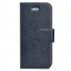 Protective Wallet Style PU Leather Case w/ Card Slot for Iphone 5 / 5s - Black