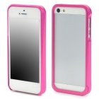 Protective Detachable Aluminium Alloy Bumper Frame Case for Iphone 5 - Deep Pink