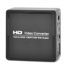 VGA to HDMI 1080P / 720P Video Audio Converter w/ Scaler - Black + Silver
