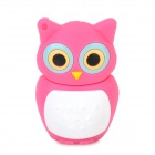 KL 999 Cute Cartoon Owl Style USB 2.0 Flash Drive - Deep Pink + White (16GB)