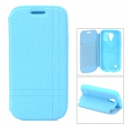 Protective PU Leather Flip-open Holder Case for Samsung Galaxy Mini i9190 - Blue
