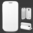 Protective Flip-open PU Leather Case w/ Holder for Samsung Galaxy S4 Mini i9190 - White