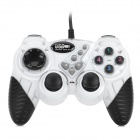 Meijiete FHJ-906 USB 2.0 Wired Vibration Game Controller - White + Black