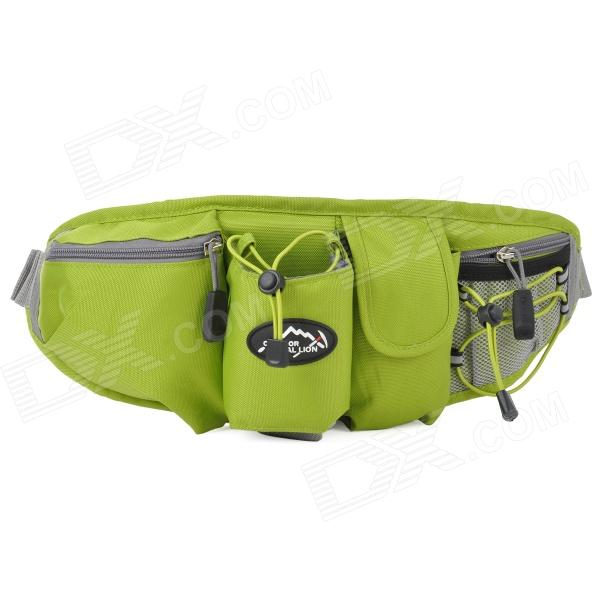 LOCALLION WH023 Outdoor Sports Cycling Nylon Waist Bag - Green + Grey locallion h 012 outdoor sports multifunction nylon backpack bag army green