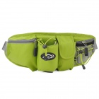 LOCALLION Outdoor Sports Cycling Nylon Waist Bag - Green + Grey