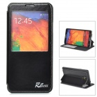 LGr-N9000 PU Leather + Plastic Case w/ Display Window for Samsung Galaxy Note 3 N9000 - Black