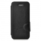 Protective PU Leather Flip Open Case w/ Card Slot for Iphone 5 / 5s - Black