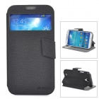 DURIAN Protective PU Leather Case for Samsung Galaxy S4 - Black