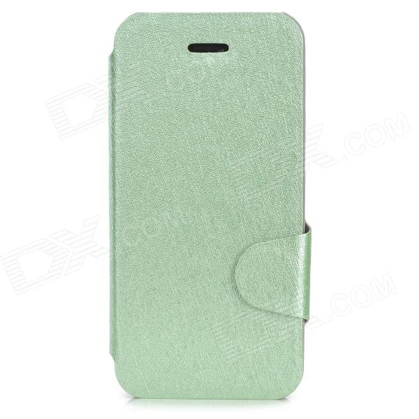 Protective Ice Crystal Style PU Leather Case w/ Card Slot for Iphone 5C - Light Green