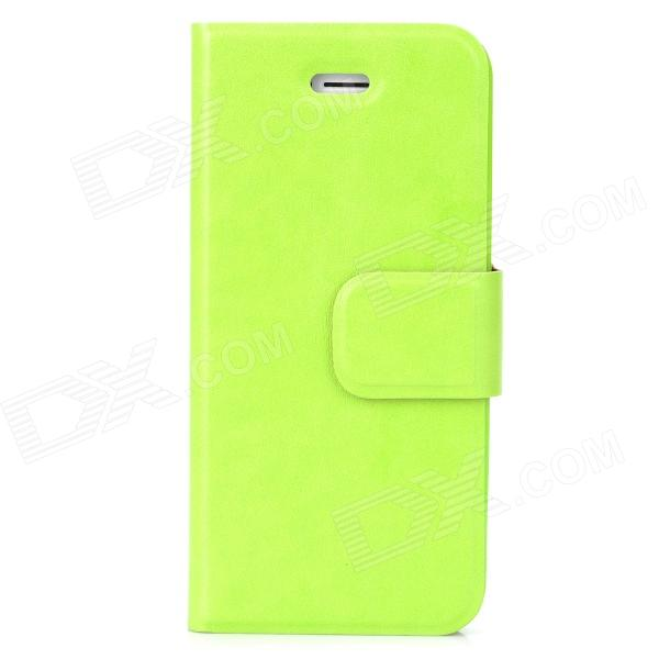 все цены на Stylish Protective PU Leather Case for Iphone 5 / 5s - Green онлайн