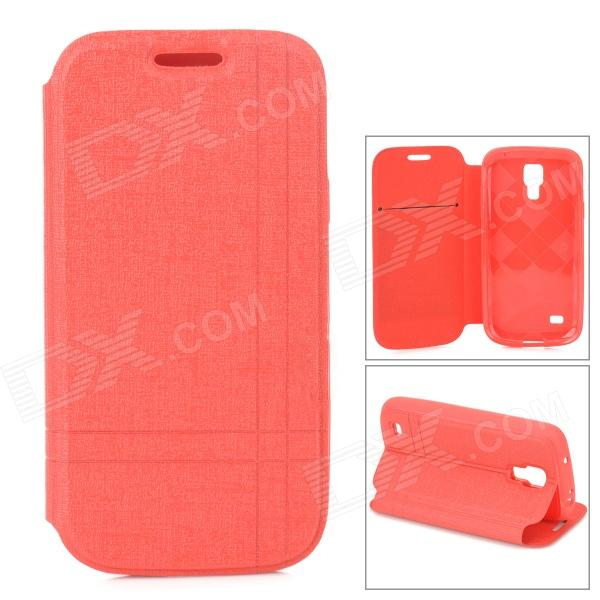 все цены на Protective Flip-open PU Leather Case w/ Holder for Samsung Galaxy S4 Mini i9190 - Red онлайн