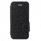 Protective Ice Crystal Grain PU Leather + Plastic Case for Iphone 5 / 5s - Black