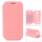 Stylish Flip-Open PU Leather Case w/ Stand for Samsung S4 Mini i9190 - Pink