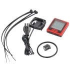 "INBIKE IC389 2.7"" LCD Bicycle Wired Stopwatch - Red + Black (1 x CR2032)"