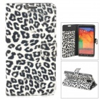Leopard Pattern Stylish PU Leather Case for Samsung N9000 / Note 3 - White + Black