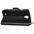 Protective Flip-open PU Leather Case for Samsung Galaxy S4 i9500 - Black