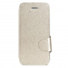Protective Ice Crystal Style PU Leather Case w/ Card Slot for Iphone 5 / 5s - Silvery
