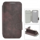 Protective Flip-open PU Leather Case for Samsung i9300 - Black