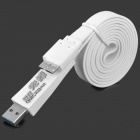 USB Male to Micro USB 3.0 9-Pin Data Charging Cable for Samsung Galaxy Note 3 - White (100cm)