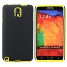 Protective Silicone + PC Back Case for Samsung Galaxy Note 3 - Black + Yellow