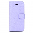Silk Style Protective PU Leather + Plastic Case for Iphone 5C - Purple