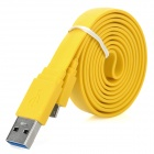 USB Male to Micro USB Male Data/Charging Flat Cable for Samsung Galaxy Note 3 - Yellow (100CM)
