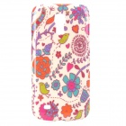Stylish Flower Style Protective Plastic Back Case for Samsung Galaxy S4 Mini i9190 - Multicolor