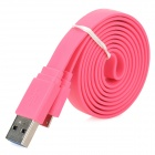 USB Male to Micro USB Male Data/Charging Flat Cable for Samsung Galaxy Note 3 N9000 - Pink (100CM)