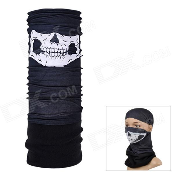 NUCKILY EEA29 Multifunction Outdoor Sports Seamless Head Scarf - Black + White
