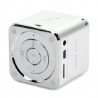MUSIC ANGEL JH-MD07U Mini Portable Media Player Speaker w/ TF / FM - Silver