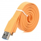 USB Male to Micro USB Male Data/Charging Flat Cable for Samsung Galaxy Note 3 - Orange (100CM)