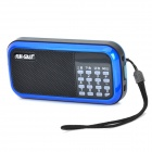 SAST XY-115 Multi-Function Media Player Speaker w/ FM Radio / TF / USB - Blue + Black
