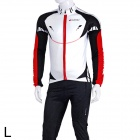 NUCKILY MI002 Outdoor Sports Fleece Herren Radfahren Coat - White + Black + Red (Größe L)