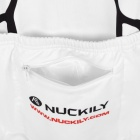 NUCKILY MI002 Outdoor Sports Fleeces Men's Cycling Coat - White + Black + Red (Size L)