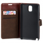 Stylish Protective PU Leather Case for Samsung Galaxy Note 3 N9000 - Dark Brown
