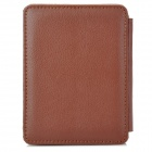 Lychee Pattern Protective PU Case for Kobo Mini - Brown