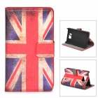 UK National Flag Pattern Protective PU Leather Case for Samsung Galaxy S2 i9100 - Red + White + Blue