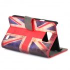 UK Flag Pattern Protective PU Case for Samsung S2 - Red + White + Blue